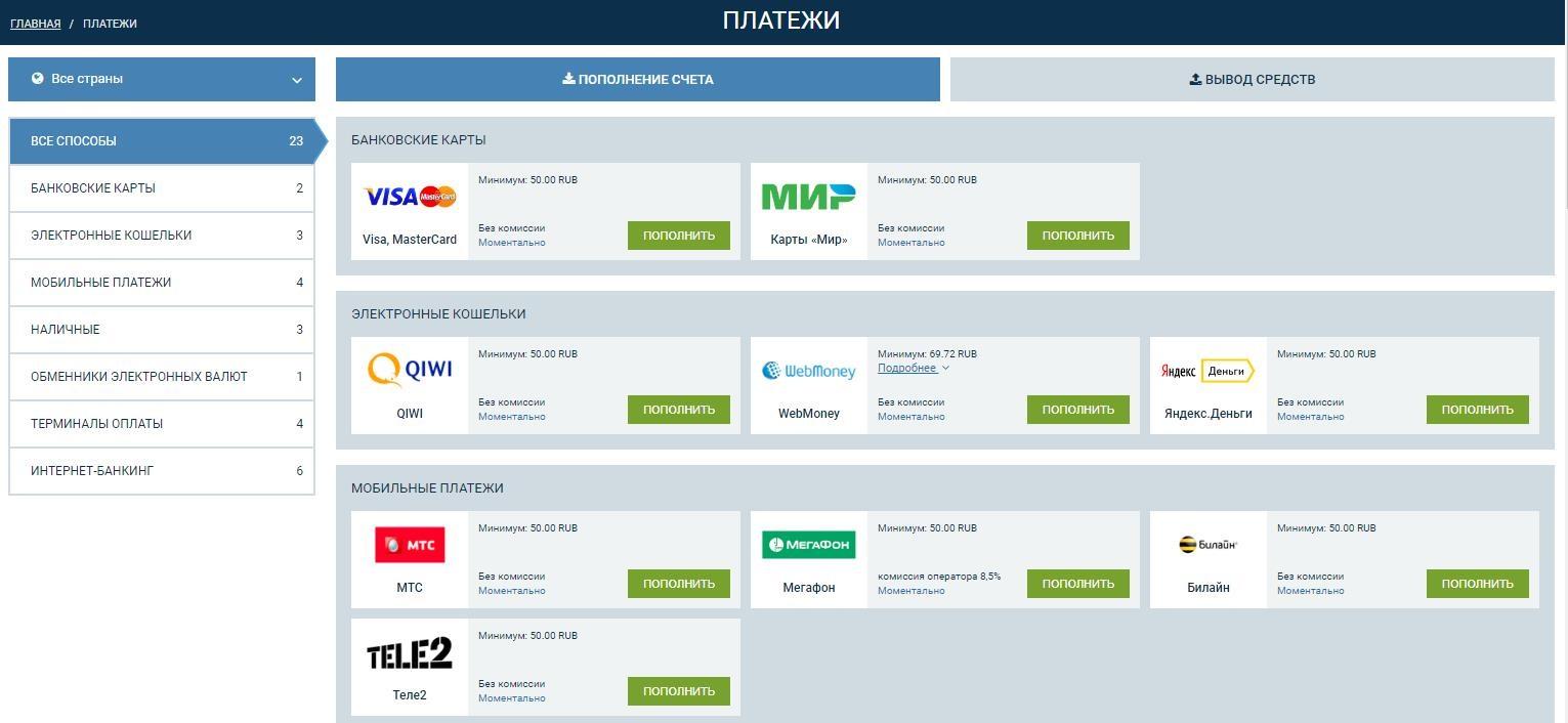 финансовые ставки сайты